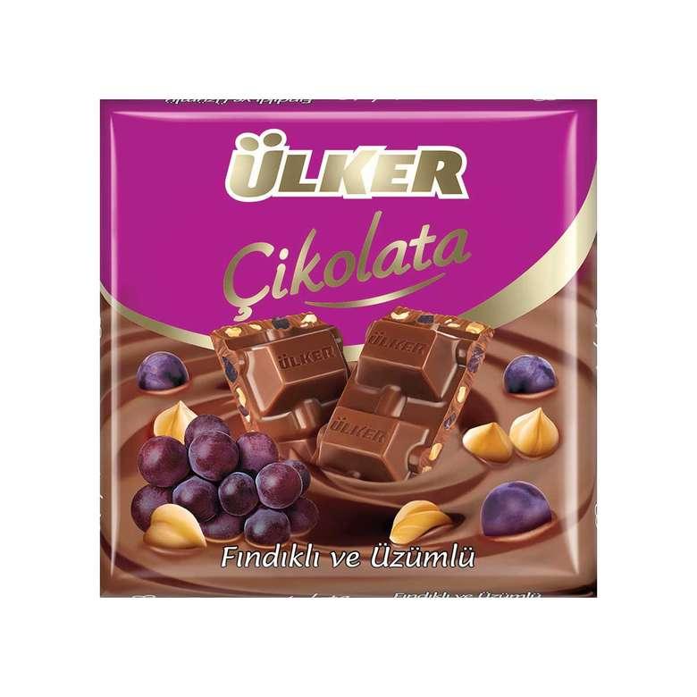 Ülker Çikolata Üzümlü Fındık Parçacıklı 65 Gr