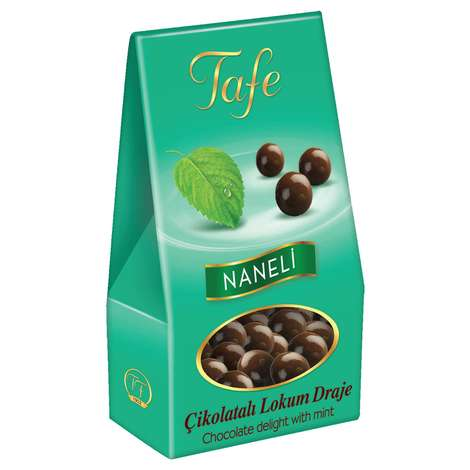 Tafe Naneli Çikolatalı Lokum Draje  60 G