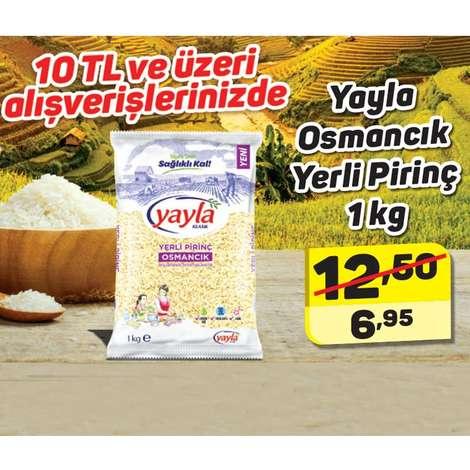Yayla Pirinç Osmancık Yerli 1000 G