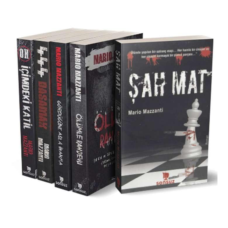 Mario Mazzanti - Polisiye Ve Gerilim Kitapları Seti - 5 Kitap
