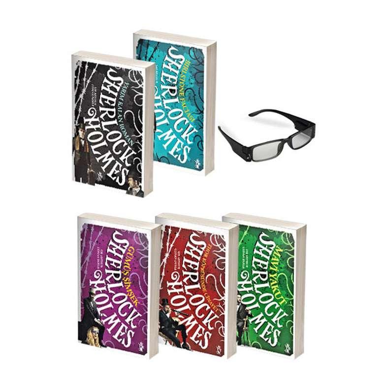 Sherlock Holmes Seti - 5 Kitap - Işıklı Kitap Okuma Gözlüklü