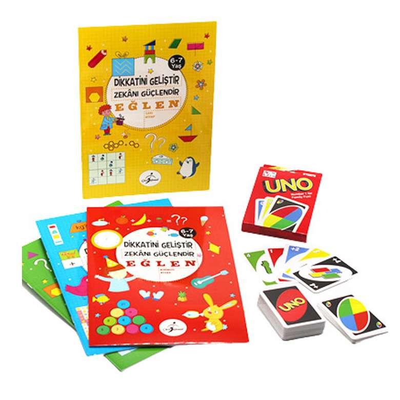 6-7 Yaş Dikkat Geliştirme Seti ve Uno Oyun Kartı