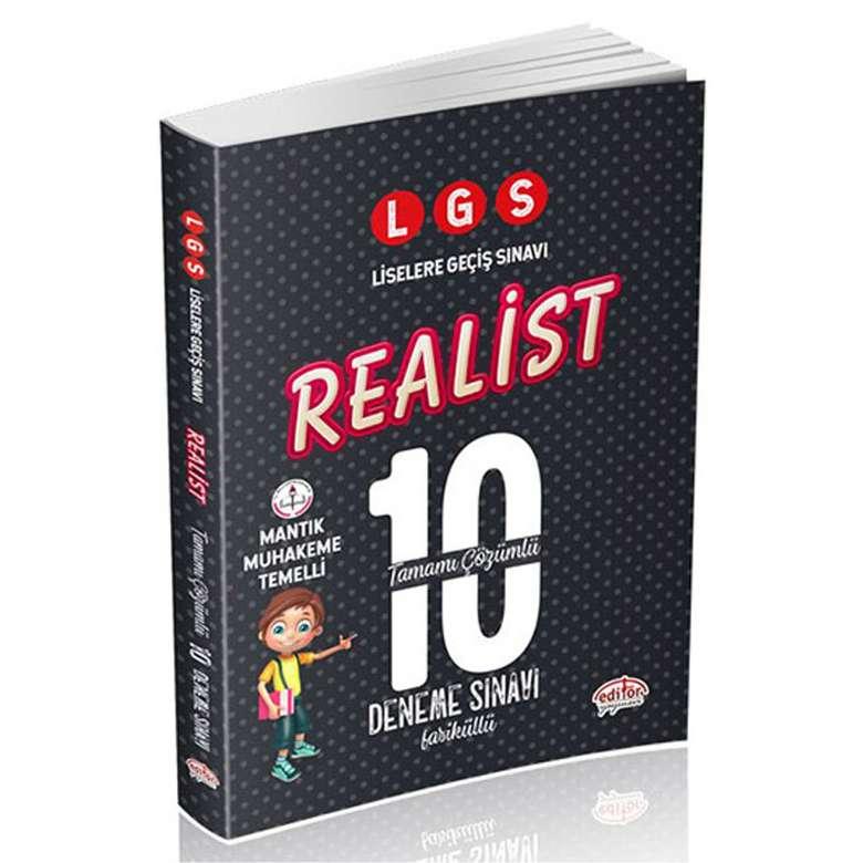 LGS Realist Tamamı Çözümlü 10 Deneme Sınavı