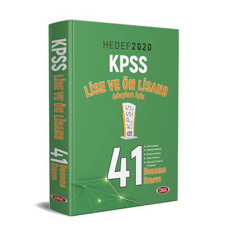 Hedef 2020 Kpss - Lise Ve Önlisans - 41 Deneme Sınavı