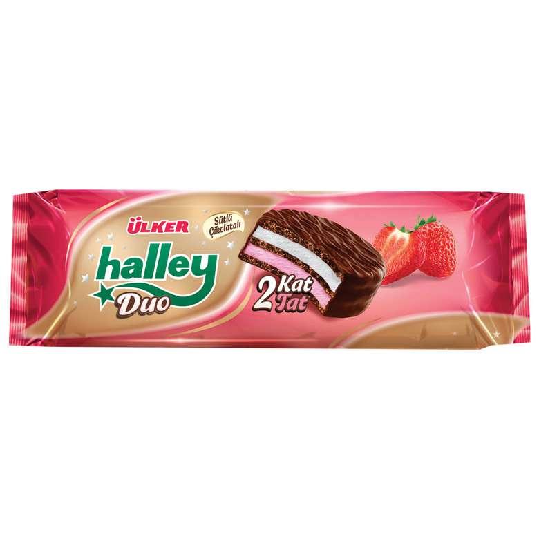 Ülker Halley Duo Bisküvi Kremalı Çikolata Kaplı Çift Dolgulu 5x45 G