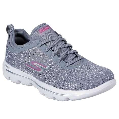 Skechers 15736-GYPK Kadın Ayakkabı Gri 40