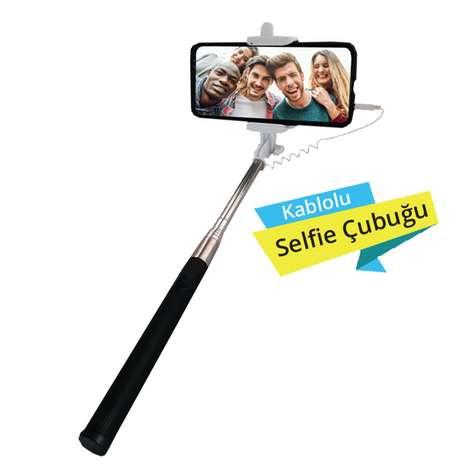 Piranha 5442 Selfie Çubuğu - Siyah