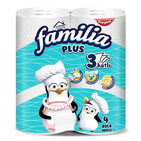 Familia Plus Üç Katlı 4'lü Kağıt Havlu