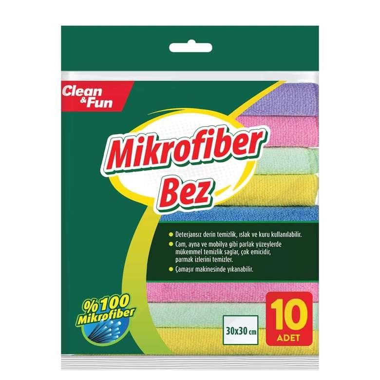Clean&Fun Temizlik Bezi Mikrofiber 10'Lu