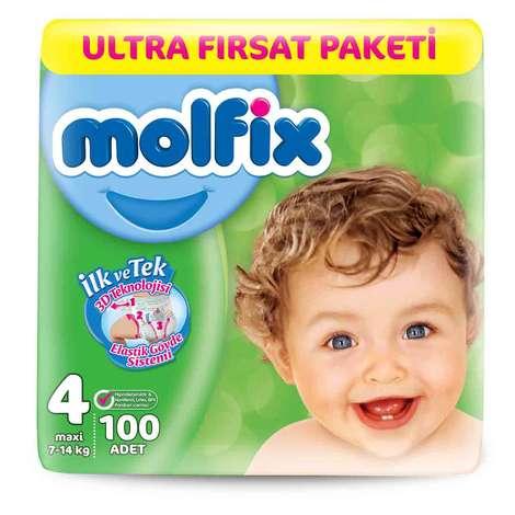 Molfix 4 Numara  Maxi 100'lü Bebek Bezi