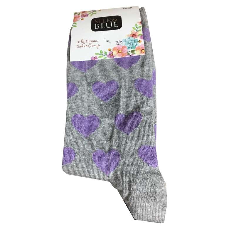 Silk & Blue Kadın Soket Çorap 3'lü
