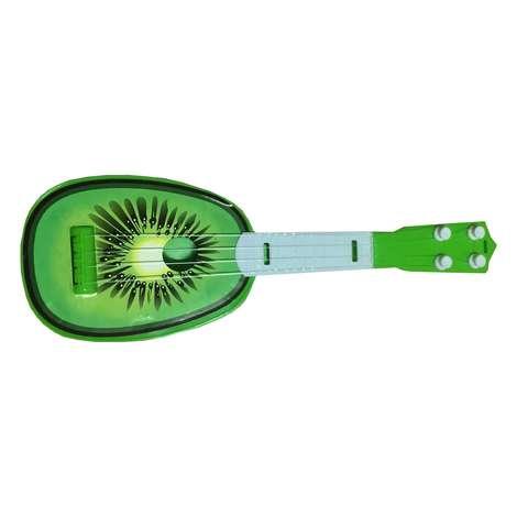 Oyuncak Meyve Desenli Gitar - Yeşil