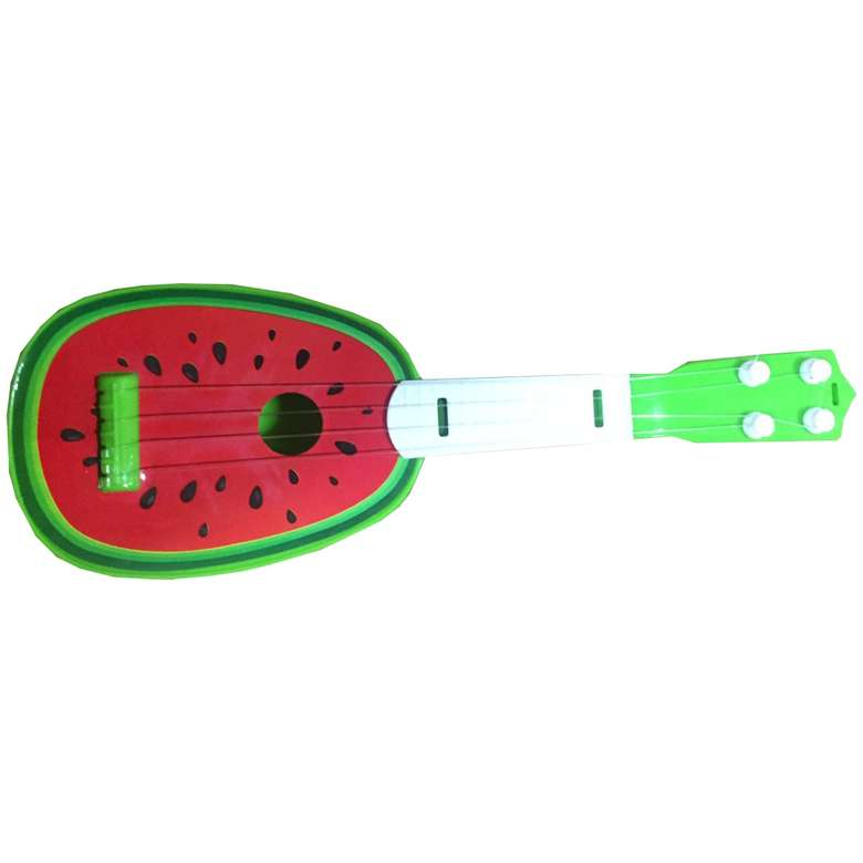 Oyuncak Meyve Desenli Gitar - Kırmızı