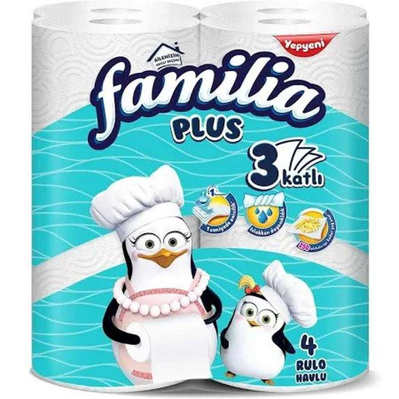 Familia Plus Kağıt Havlu 3 Kat 4'lü