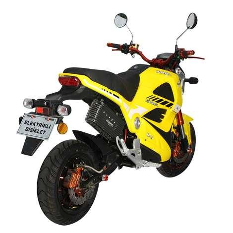 KR-25-L Ava 5000 Elektrikli Bisiklet - Sarı