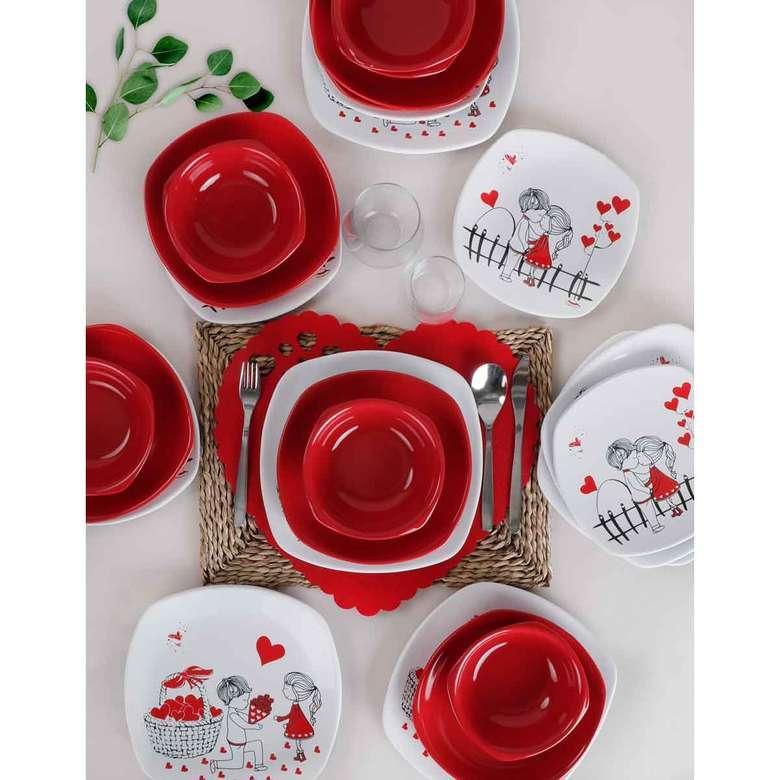 Keramika 6 Kişilik Yemek Takımı 24 Parça