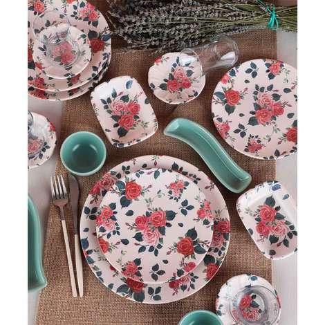 Keramika Kahvaltı Seti 19 Parça - Kırmızı Gül