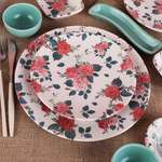 Keramika Rose Blue Kahvaltı Takımı 19 Parça 4 Kişilik - 18715