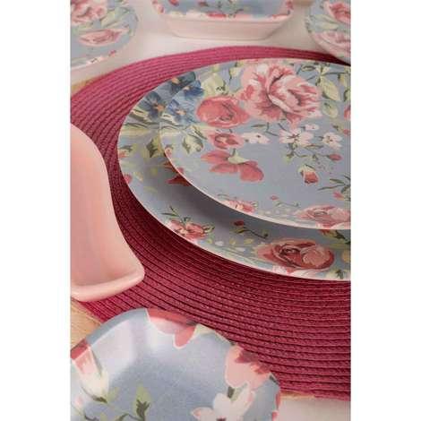 Keramika Kahvaltı Seti 19 Parça - Mavi Desenli Çiçek