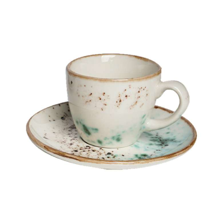 Tulu Kahve Fincan Takımı 6'lı - Yeşil