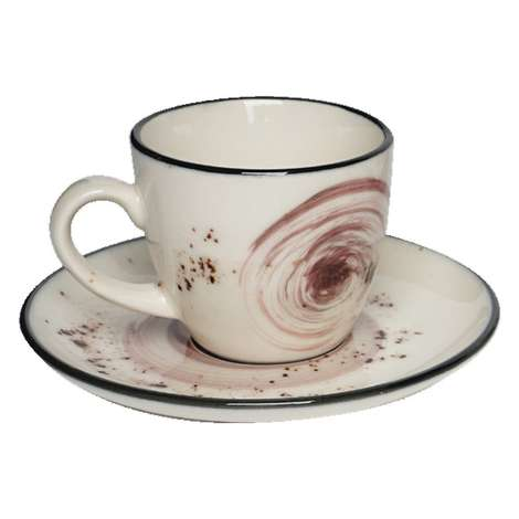 Tulu Kahve Fincan Takımı 6'lı - Kırmızı