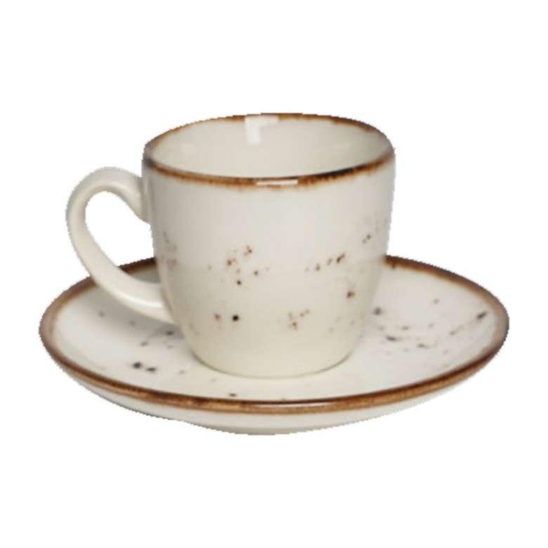 Tulu Kahve Fincan Takımı 6'lı - Krem