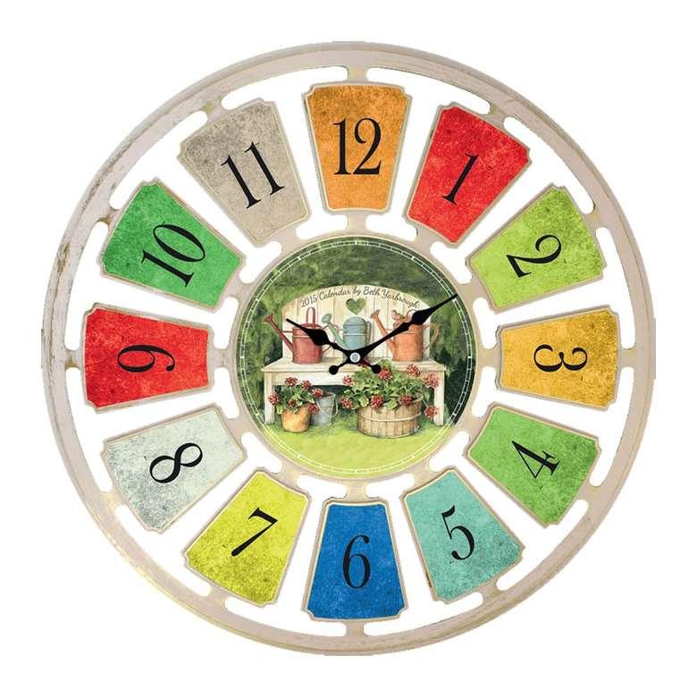 Duvar Saati 50cm - Yeşil
