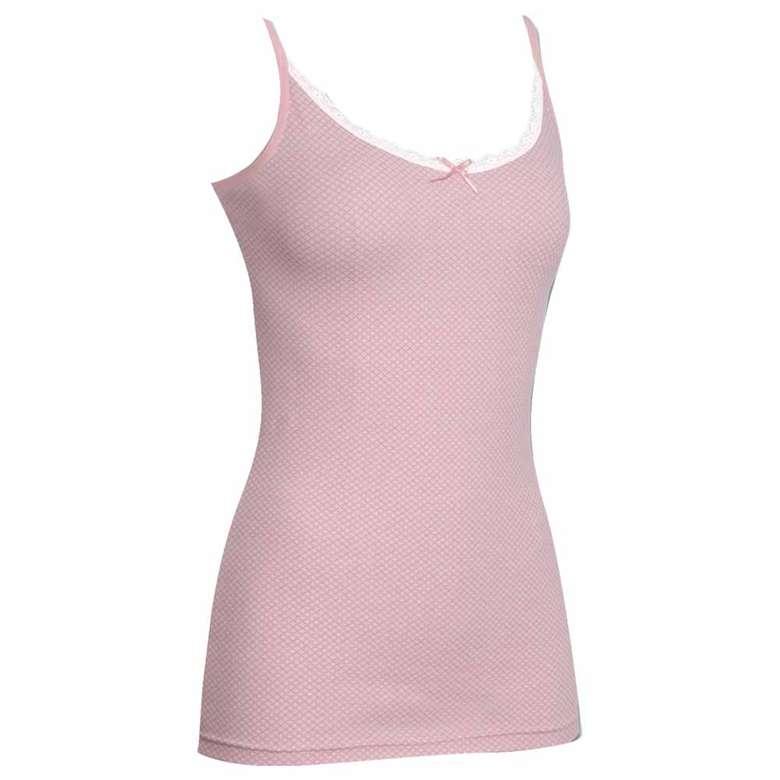 Silk&Blue Kadın Dantelli Atlet - Pembe L-XL