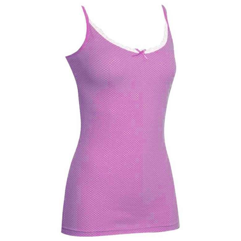 Silk&Blue Kadın Dantelli Atlet - Bordo L-XL