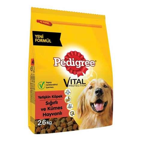 Pedigree Biftekli Ve Kümes Hayvanlı 2.6 kg Yetişkin Köpek Maması