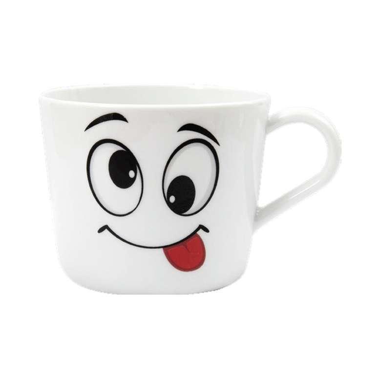 Güral Porselen Desenli Kupa - Smile 360 cc