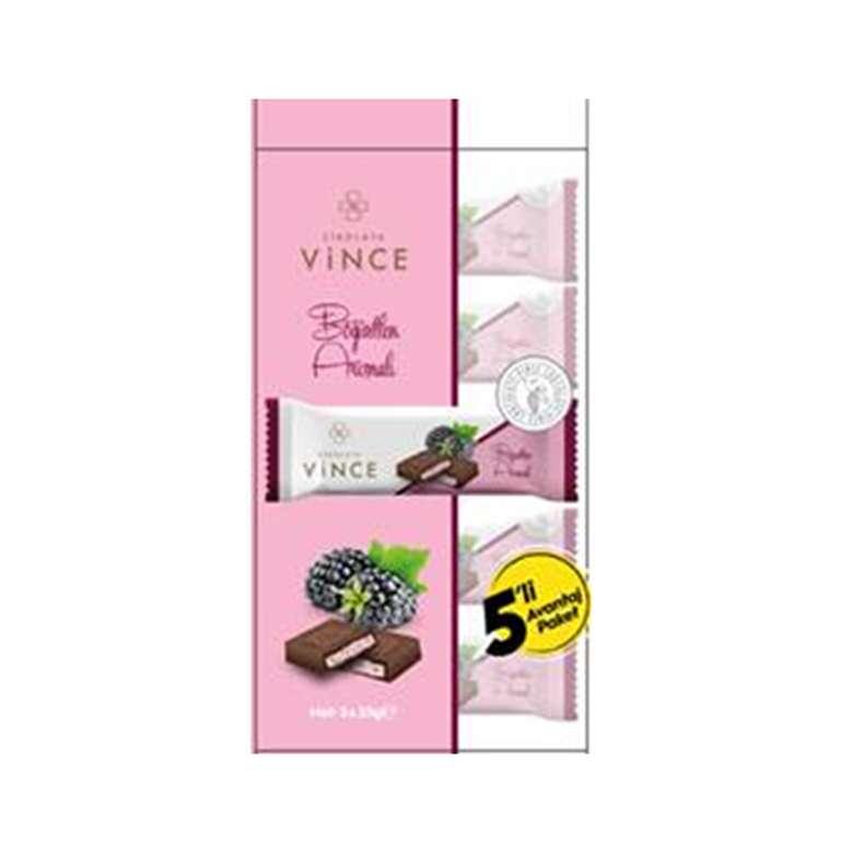 Çikolata Böğürtlen Aro.dol. 5*25 G Vince