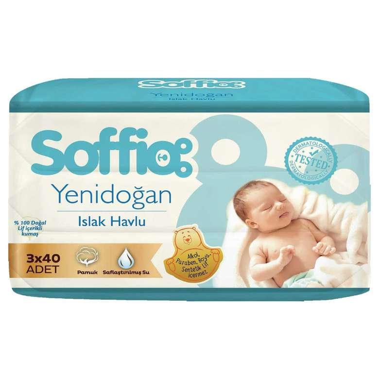 Soffio Yenidoğan Islak Havlu 3x40
