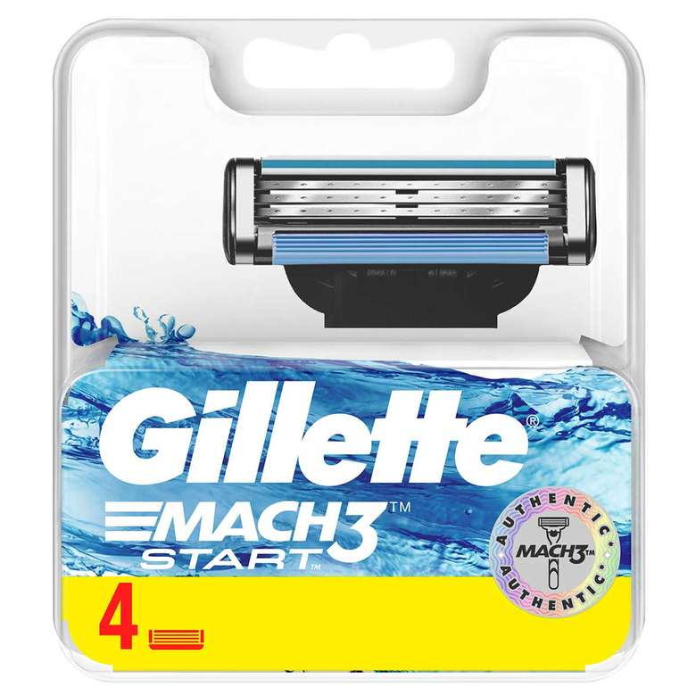 Gillette Mach3 Start 4'lü Yedek Tıraş Bıçağı