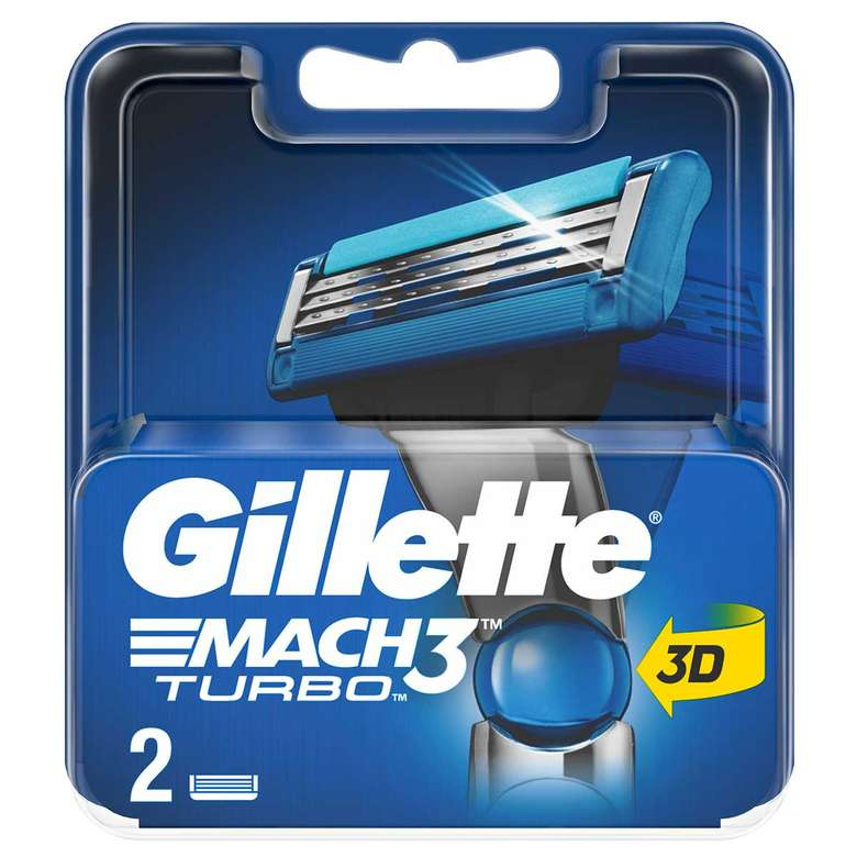 Gillette Tıraş Bıçağı Yedek Mach 3 Turbo 2'Li