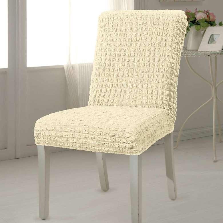 Bürümcük Sandalye Kılıfı Krem