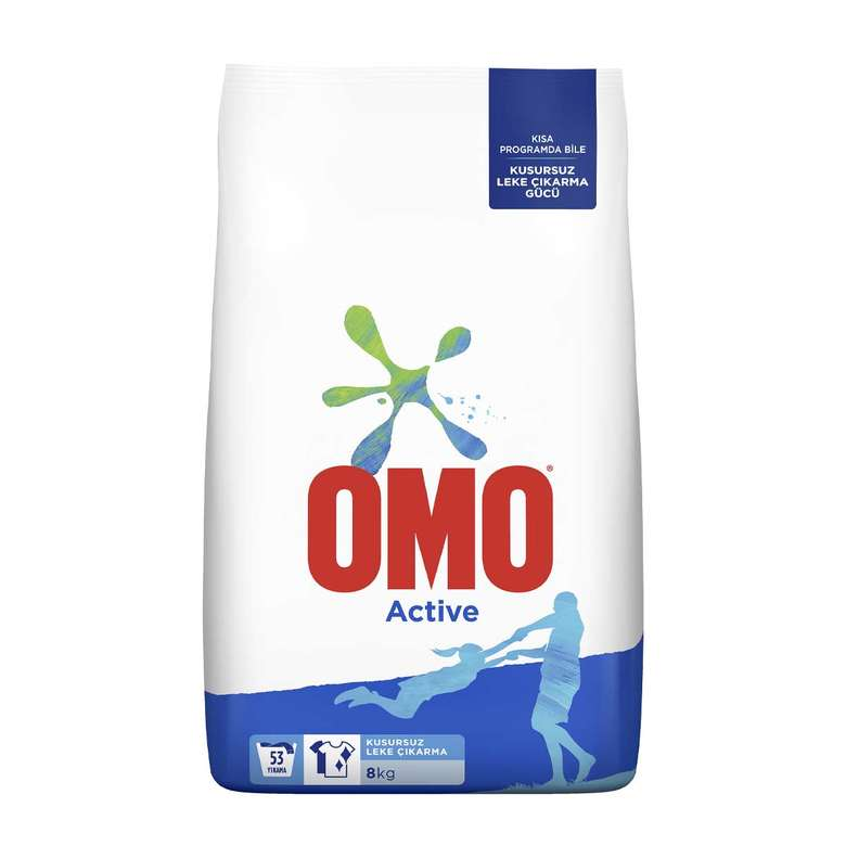 Omo Toz Deterjan 8 Kg - Beyaz