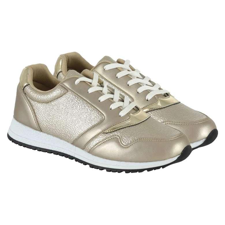 Bayan Simli Gri Spor Ayakkabı Kadın - 38