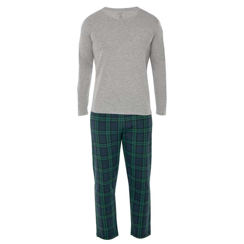 Silk & Blue Erkek Uzun Kollu Supreme Pijama Takımı