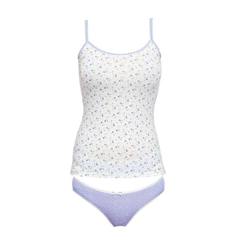 Silk & Blue Bayan Atlet-Slip Takım - Beyaz S-M