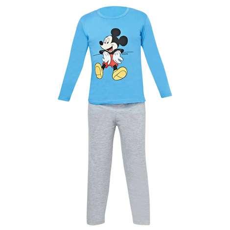 Lisanslı Çocuk Uzun Kollu Pijama, Mavi, 7-8 Yaş