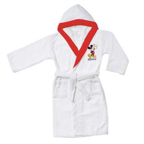 Lisanslı Micky Mouse Çocuk Bornoz