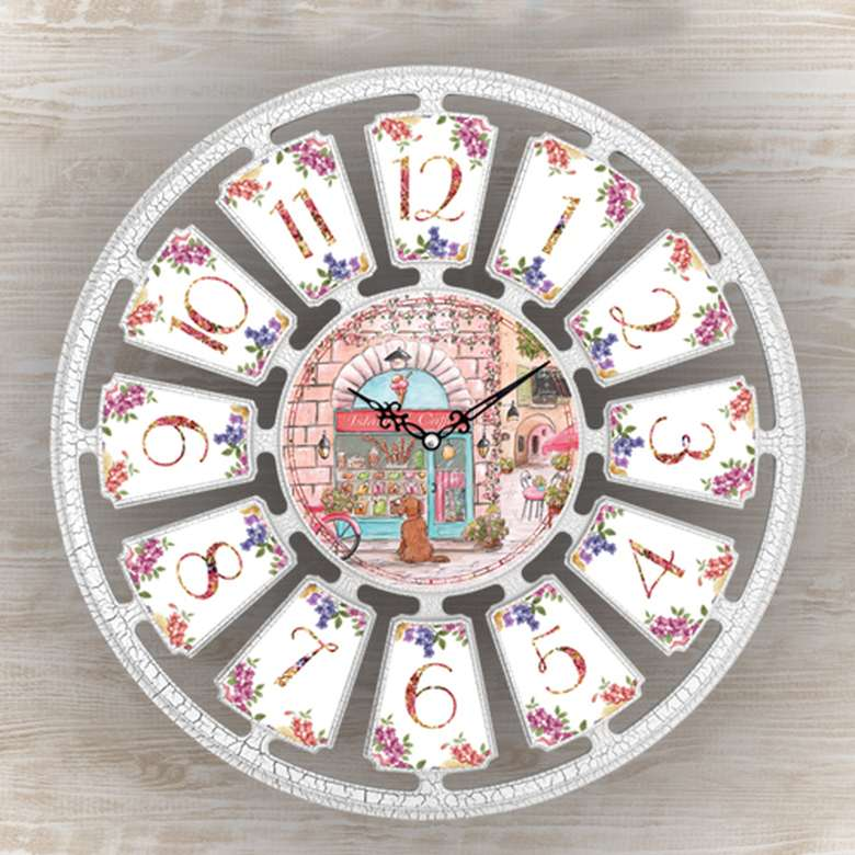 Duvar Saati 50cm - Beyaz