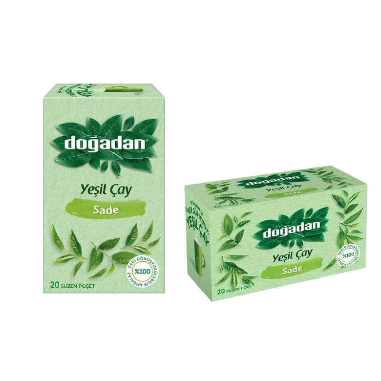 Doğadan Sade Yeşil Çay Bitki Çayı 20 Poşet
