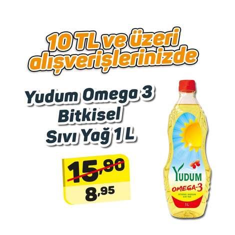 Yudum Omega 3 Bitkisel Sıvı  Yağ 1 L