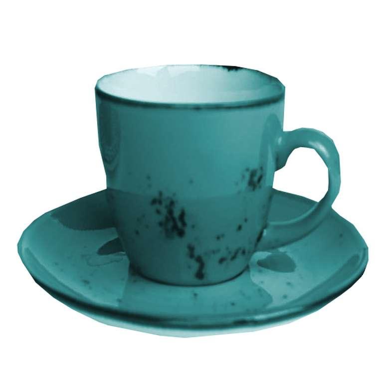 2'li Fincan Takımı Renkli Su Yeşili