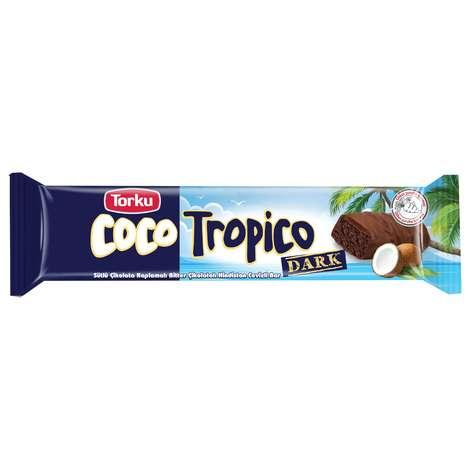 Torku Coco Tropico Bitter Hindistan Cevizli Sütlü Çikolata Kaplamalı Bar 30 gr