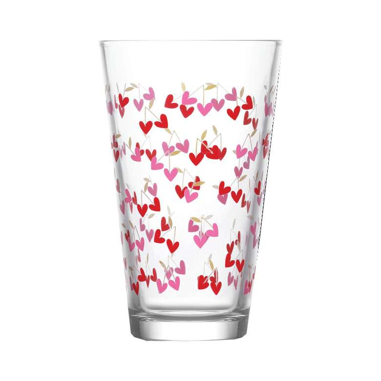 Lav 3'lü Su Bardağı  -Kırmızı