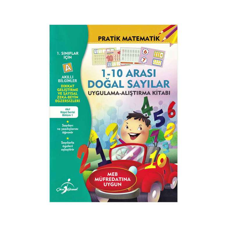 Akıllı Bilginler Pratik Matematik Kitabı - 1-10 Arası Doğal Sayılar