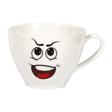 Porselen Kupa / Şaşı Göz Emoji